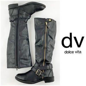 dv Dolve Vita Black Zip Boots Size 7.5